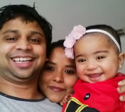 Santosh, Sweta and Sophie